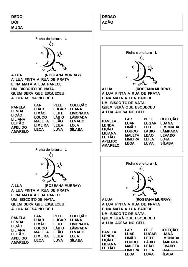 Fichas de leitura   texto e palavras Slide 2