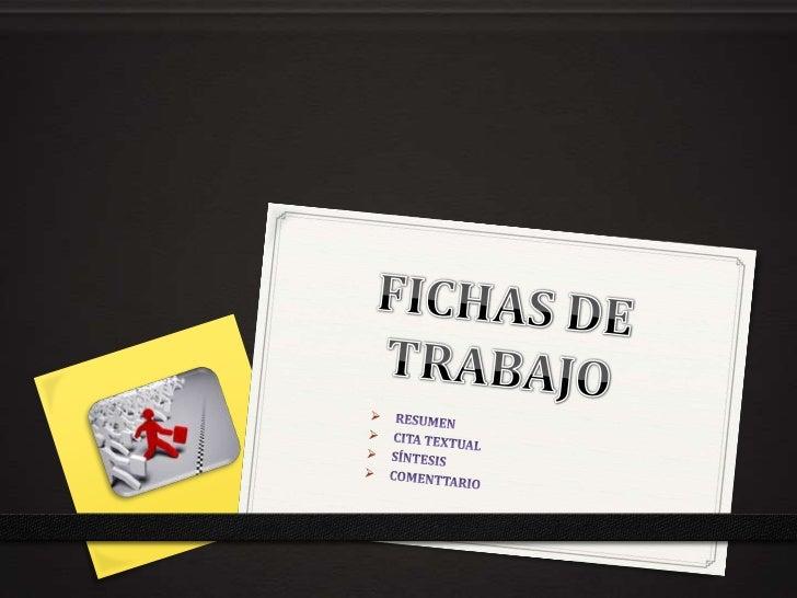 FICHA DE RESUMEN (PARTE FRONTAL)