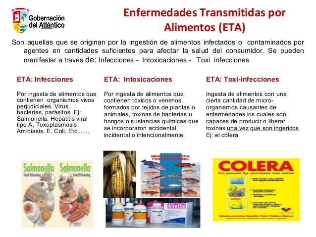 Enfermedades Transmitidas por Alimentos (ETA) Son aquellas que se originan por la ingestión de alimentos infectados o cont...