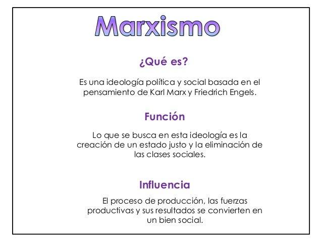 ¿Qué es?  Es una ideología política y social basada en el  pensamiento de Karl Marx y Friedrich Engels.  Función  Lo que s...