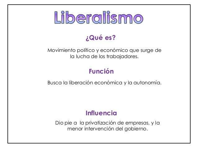 ¿Qué es?  Movimiento político y económico que surge de  la lucha de los trabajadores.  Función  Busca la liberación económ...