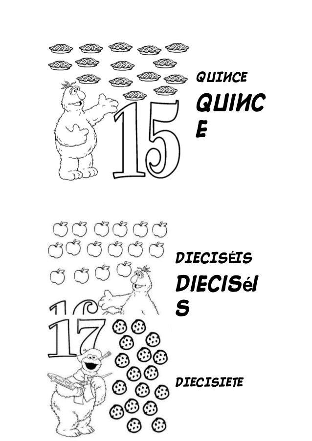 Números del 11 al 20 para colorear