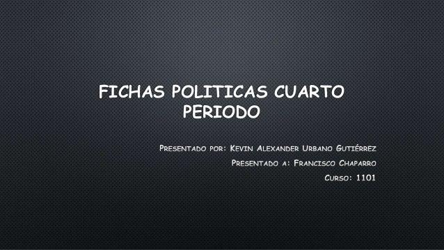 FICHAS POLITICAS CUARTO  PERIODO