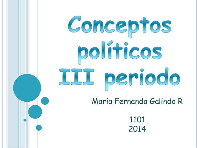 María Fernanda Galindo R  1101  2014