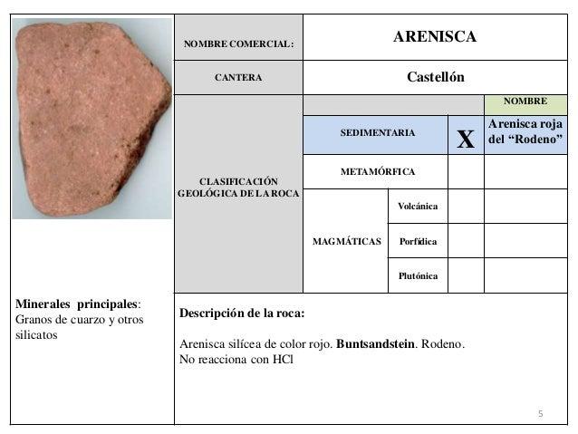 Fichas rocas ornamentales for Nombre de la roca
