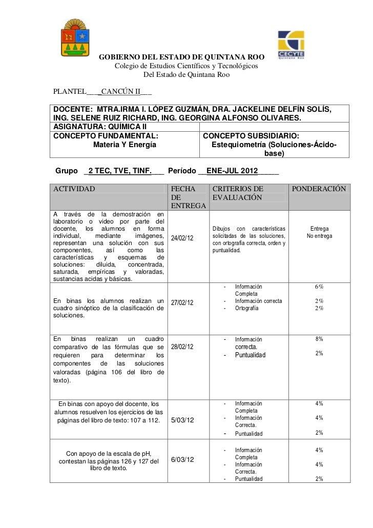 GOBIERNO DEL ESTADO DE QUINTANA ROO                   Colegio de Estudios Científicos y Tecnológicos                      ...
