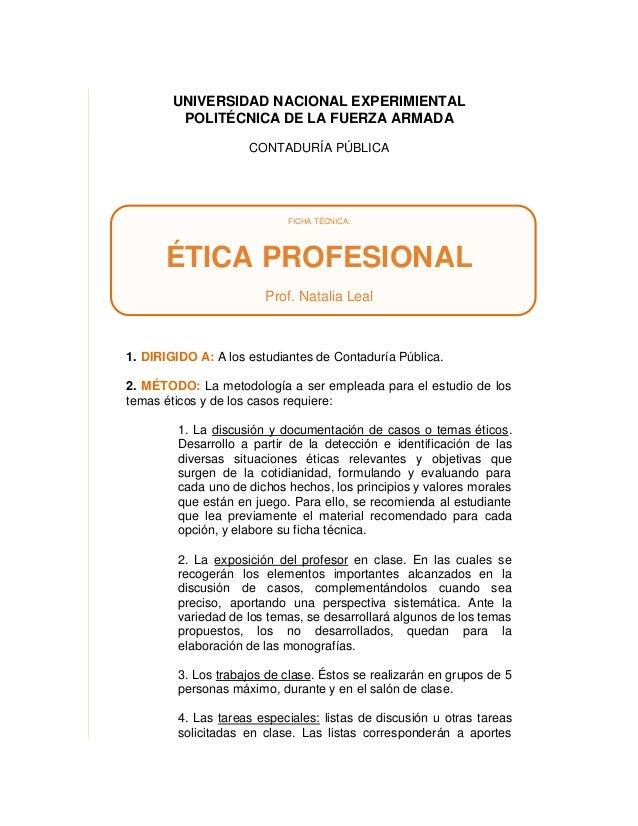 UNIVERSIDAD NACIONAL EXPERIMIENTAL        POLITÉCNICA DE LA FUERZA ARMADA                     CONTADURÍA PÚBLICA          ...
