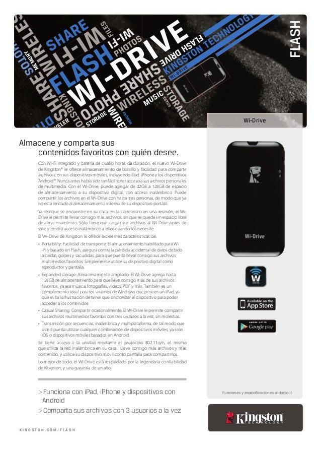 KINGSTON TECHNOLOGY DTR101G2 Wi-DRIVE PHOTOS SHARE FLASHSHARE STORAGE SHAREPHOTO WI-FI WIRELESS FLASHDRIVEPHOTOS STORAGE S...
