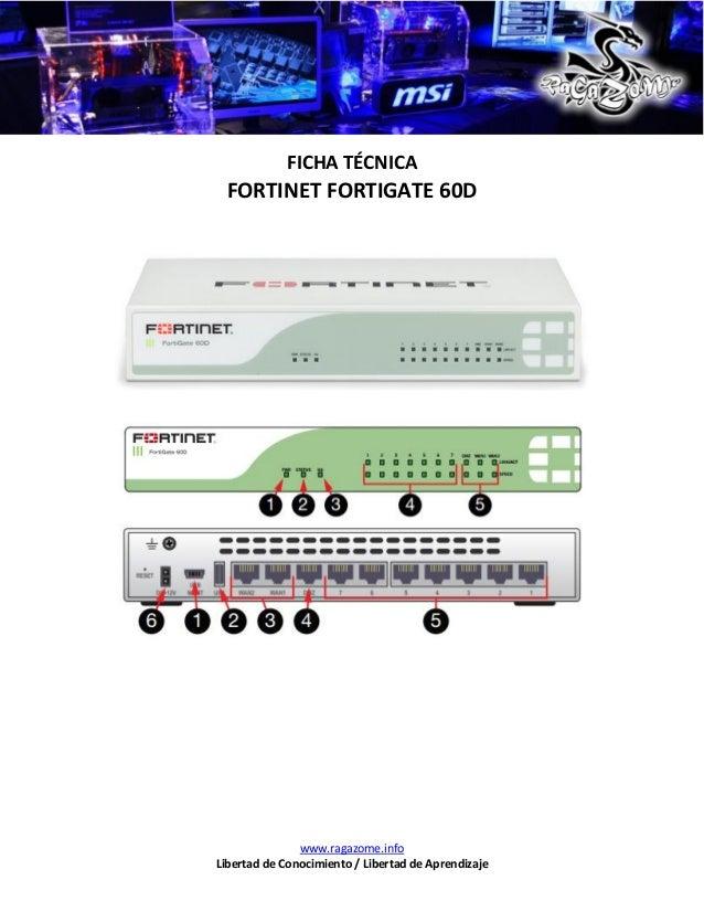 Ficha Tecnica Fortinet FortiGate 60D