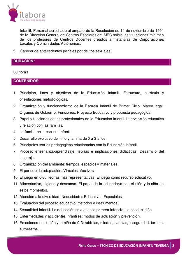 Curso online preparacion oposiciones tei ayto teverga - Grado superior de jardin de infancia ...