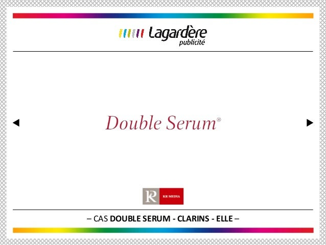 – CAS DOUBLE SERUM - CLARINS - ELLE –