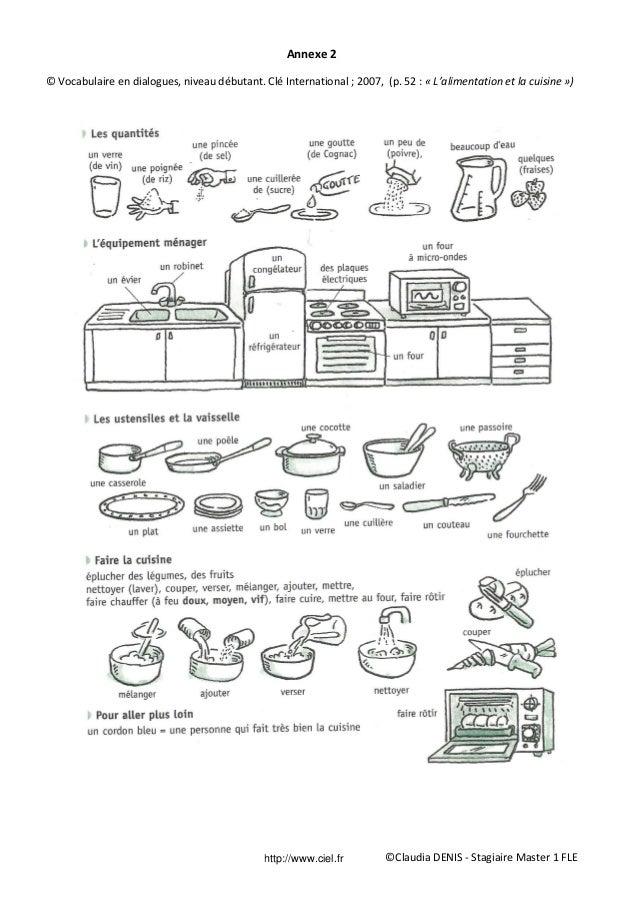 Fiche p dagogique fle imp ratif for Anglais vocabulaire cuisine