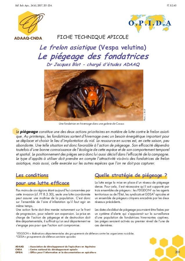 ADAAQ : Association de développement de l'apiculture en Aquitaine CNDA : Centre national du développement apicole OPIDA : ...
