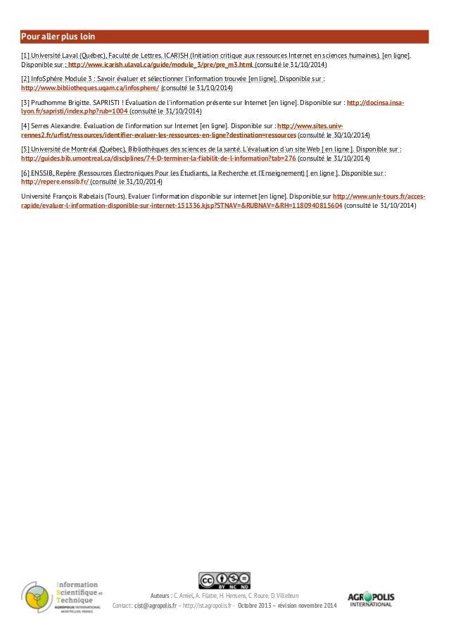 Auteurs : C. Amiel, A. Filatre, H. Hensens, C. Roure, D. Villebrun Contact : cist@agropolis.fr – http://ist.agropolis.fr -...