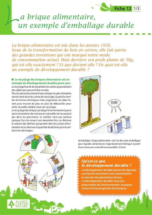 L     a brique alimentaire,      un exemple d'emballage durable                                                           ...