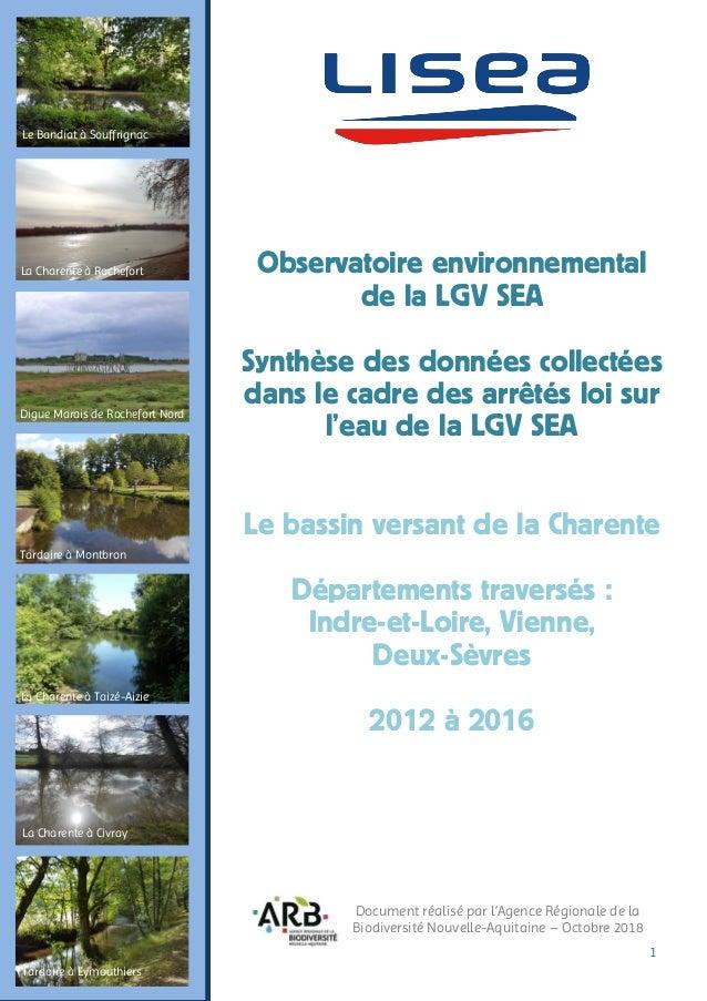 1 La Charente à Rochefort Digue Marais de Rochefort Nord La Charente à Taizé-Aizie Tardoire à Montbron Le Bandiat à Souffr...