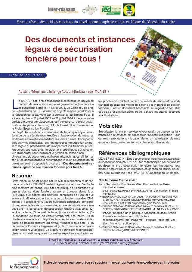 Mise en réseau des actrices et acteurs du développement agricole et rural en Afrique de l'Ouest et du centre  Des document...