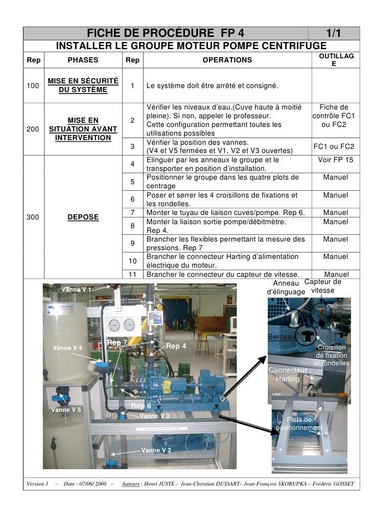FICHE DE PROCÉDURE FP 4                                                                    1/1              INSTALLER LE G...