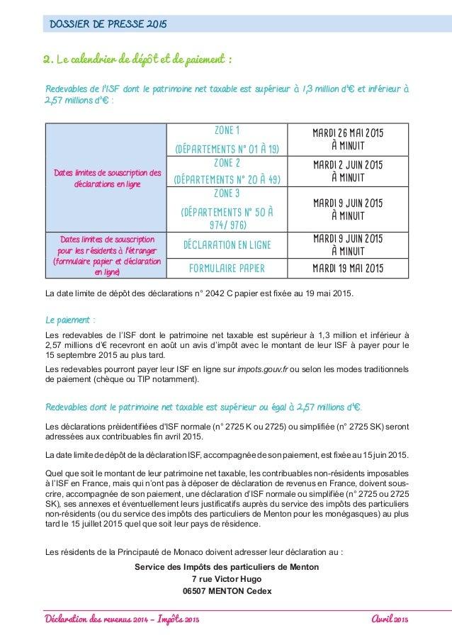 Declaration Des Revenus 2014