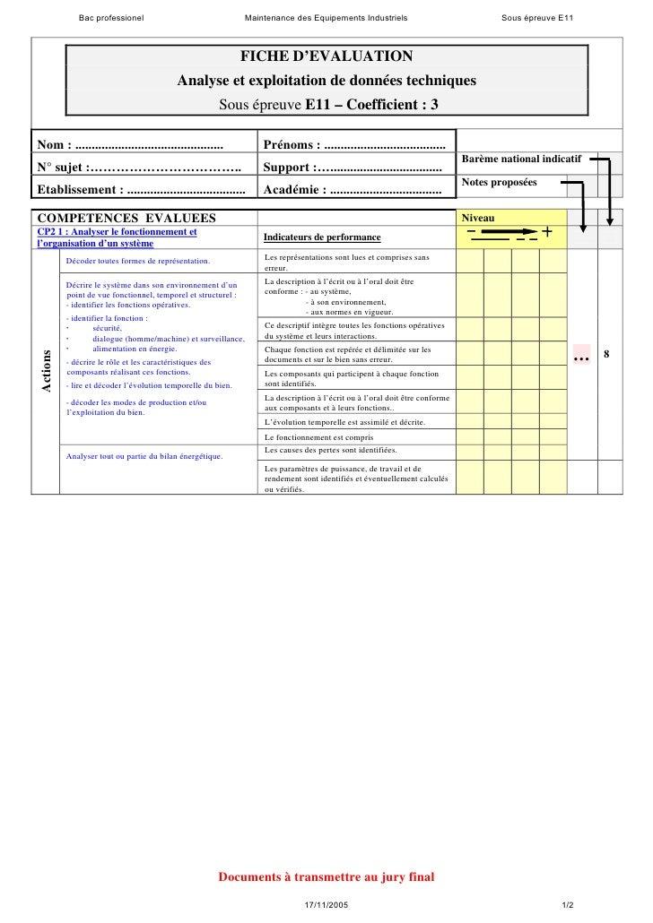 Bac professionel                                  Maintenance des Equipements Industriels                                S...