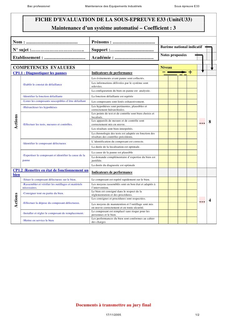 Bac professionel                                  Maintenance des Equipements Industriels                               So...