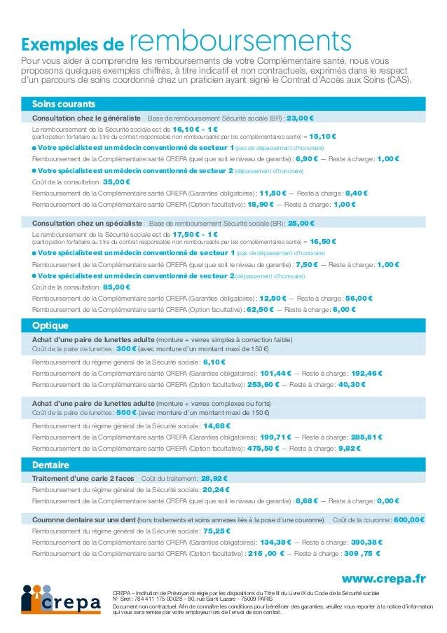 Exemples de remboursementsPour vous aider à comprendre les remboursements de votre Complémentaire santé, nous vous proposo...