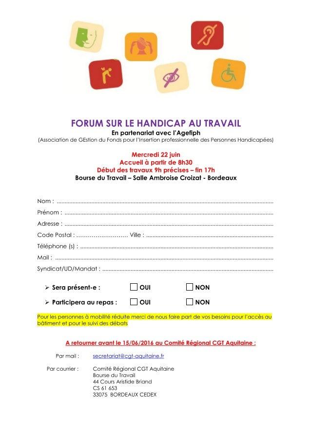 Fiche inscription forum Handicap 22 juin