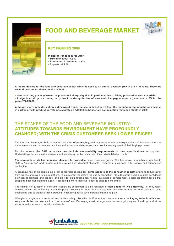 The food market fact sheet