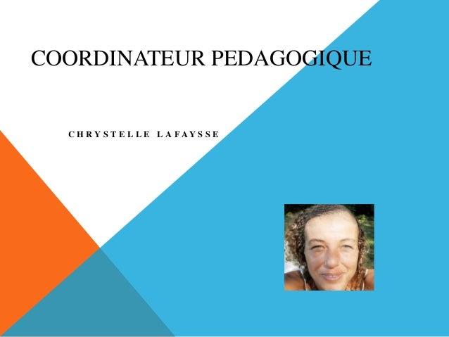 COORDINATEUR PEDAGOGIQUE C H R Y S T E L L E L A F A Y S S E