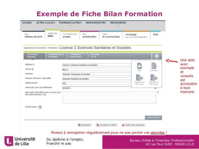Fiche Pec Bilan Formation