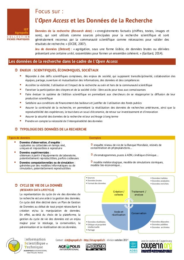 Contact : cist@agropolis.fr –http://ist.agropolis.fr - révision octobre 2016 avec le soutien de Couperin.org Focus sur : l...