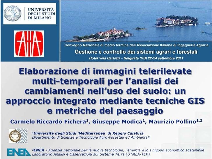 Convegno Nazionale di medio termine dell'Associazione Italiana di Ingegneria Agraria<br />Gestione e controllo dei sistemi...