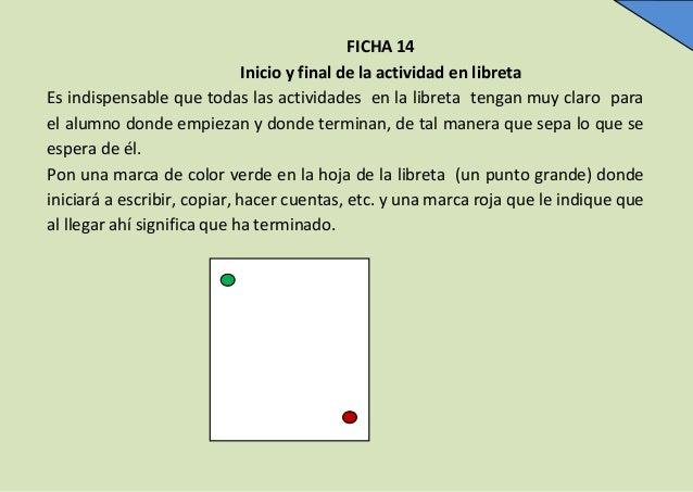 FICHA 14 Inicio y final de la actividad en libreta Es indispensable que todas las actividades en la libreta tengan muy cla...