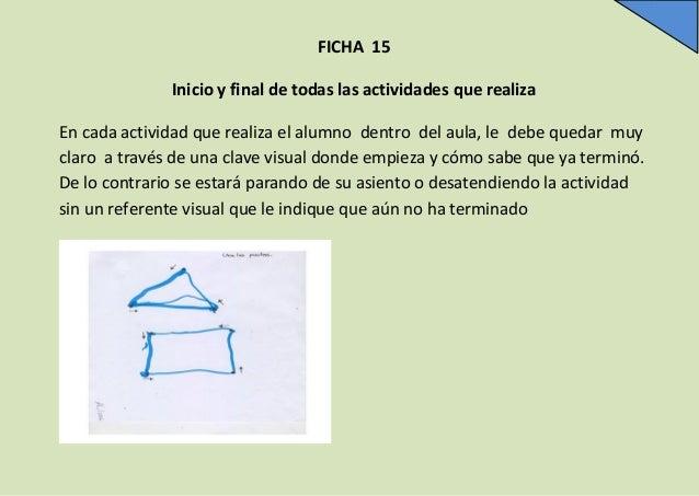 FICHA 15 Inicio y final de todas las actividades que realiza En cada actividad que realiza el alumno dentro del aula, le d...