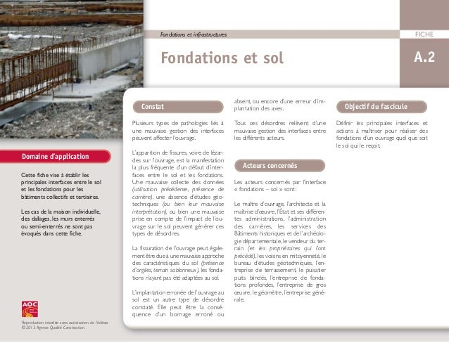 Fondations et infrastructures                                                                                FICHE        ...
