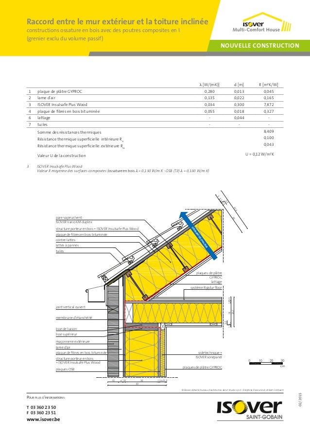 02/2015 Pour plus d'informations T 03 360 23 50 F 03 360 23 51 www.isover.be NOUVELLE CONSTRUCTION Raccord entre le mur ex...
