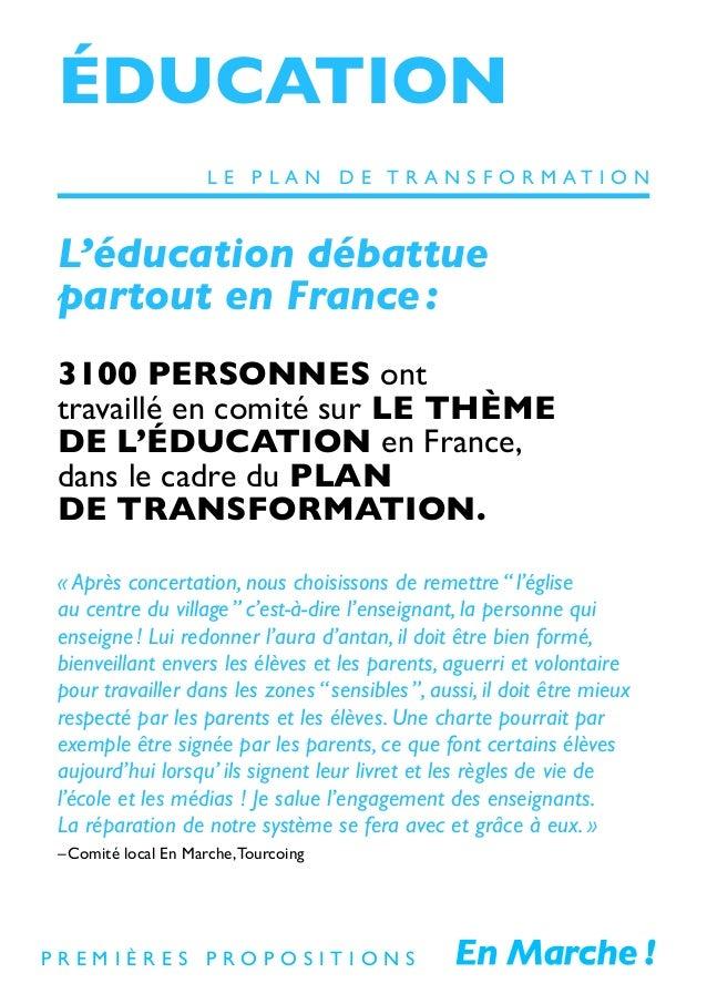 ÉDUCATION L'éducation débattue partout en France: 3100 PERSONNES ont travaillé en comité sur LE THÈME DE L'ÉDUCATION en Fr...