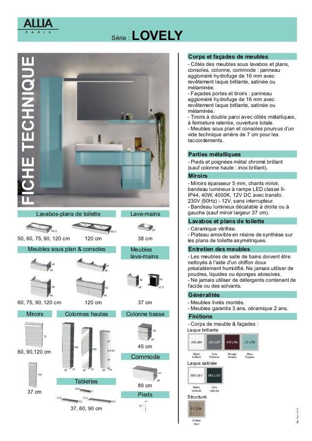 Fiche technique meubles de salle de bains lovely for Delpha meuble salle de bain