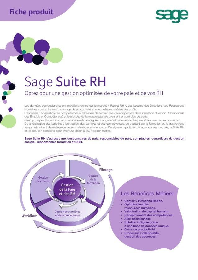 Fiche produit    Sage Suite RH    Optez pour une gestion optimisée de votre paie et de vos RH    Les données conjoncturell...