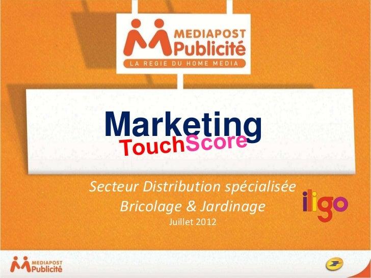 MarketingSecteur Distribution spécialisée    Bricolage & Jardinage            Juillet 2012