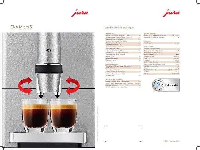 JURA ENA MICRO 5 Machine à café fiche technique