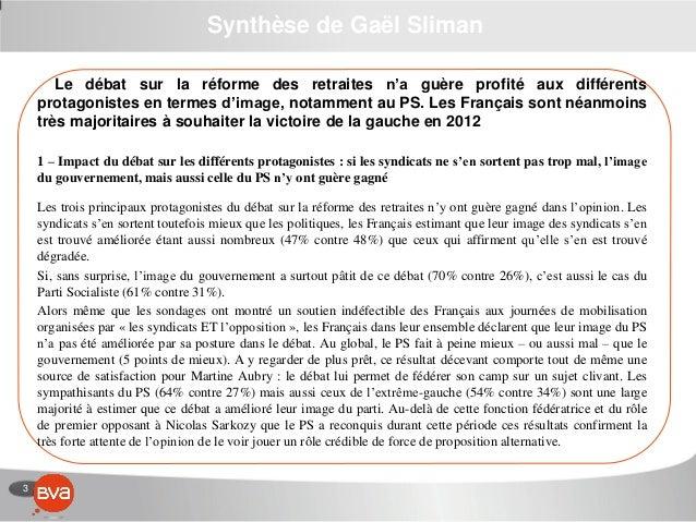3 Synthèse de Gaël Sliman Le débat sur la réforme des retraites n'a guère profité aux différents protagonistes en termes d...