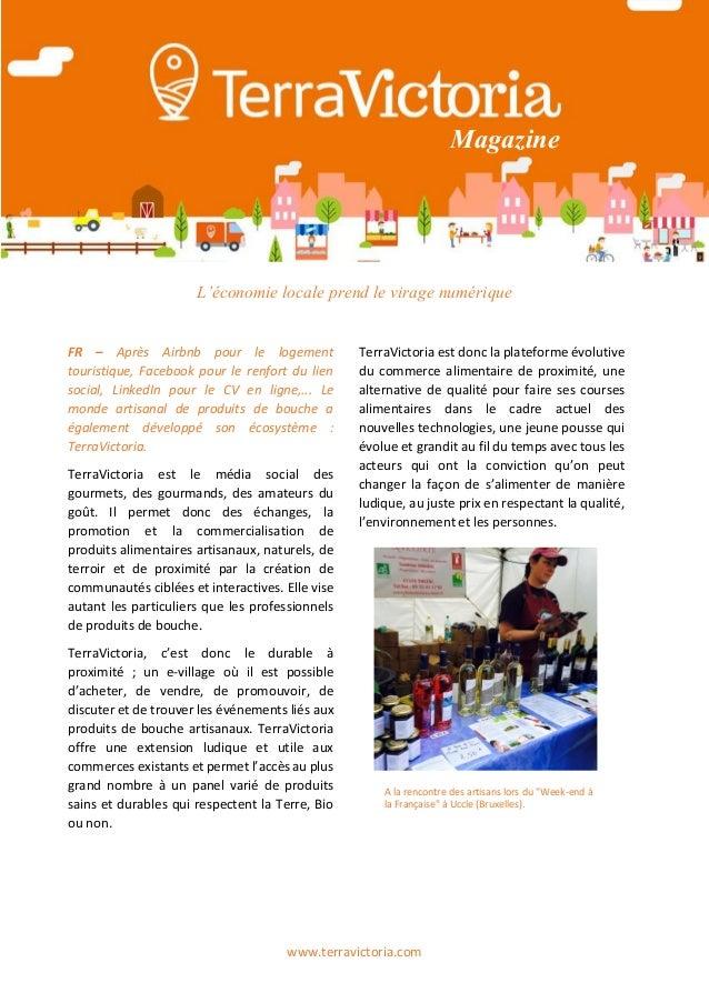www.terravictoria.com Magazine L'économie locale prend le virage numérique FR – Après Airbnb pour le logement touristique,...