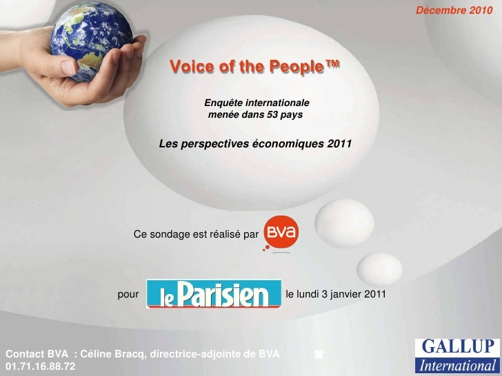 Décembre 2010                                Voice of the People™                                       Enquête internatio...