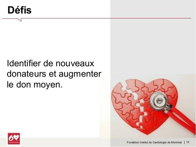 Fondation Institut de Cardiologie de Montréal    Implication très  émotionnelle quant au  choix de fondation pour  laquell...