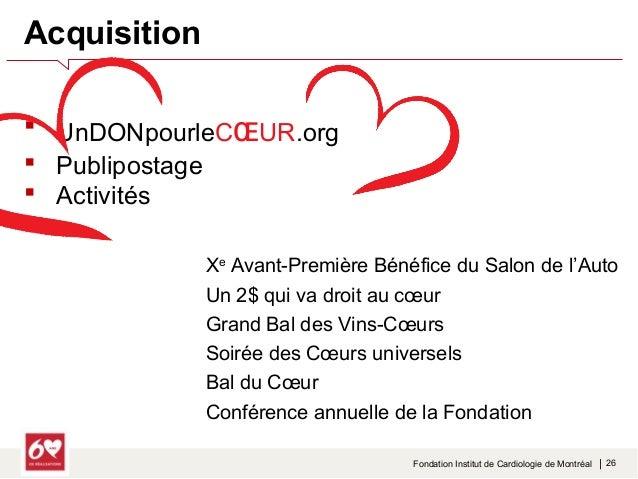 PPHHAASSEE 22  Fondation Institut de Cardiologie de Montréal   28