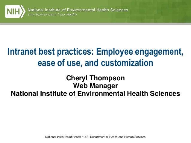 NIH Presentation By Cheryl Thompson