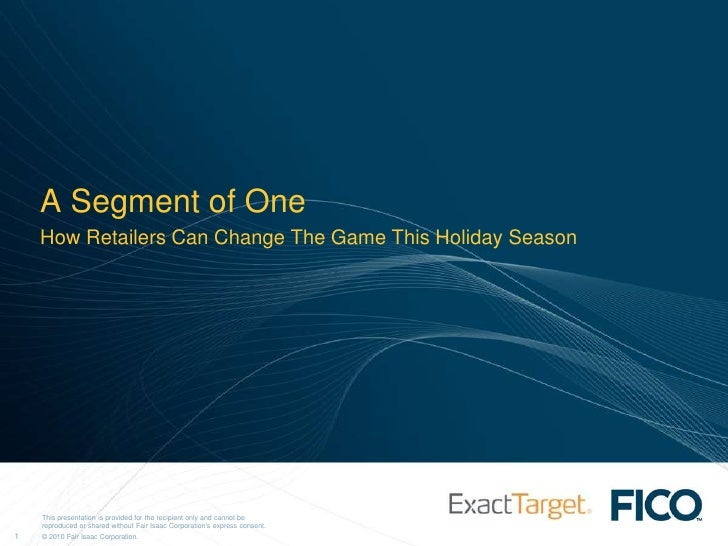 A Segment of One<br />How Retailers Can Change The Game This Holiday Season<br />