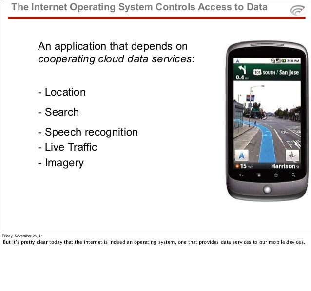 The Internet Operating System Controls Access to Data                    An application that depends on                   ...
