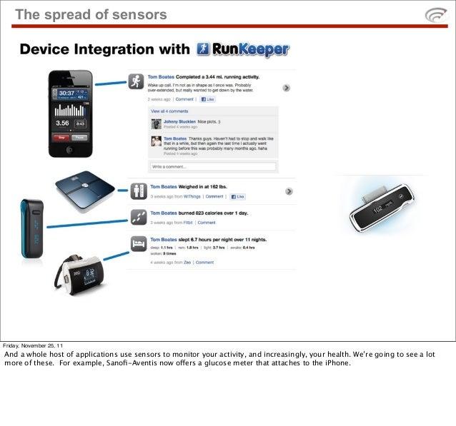 The spread of sensors    • sensor platform slideFriday, November 25, 11And a whole host of applications use sensors to mon...